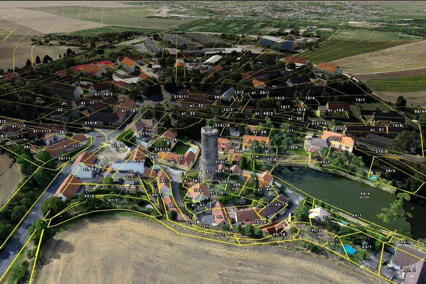 True3D City Models Overlaid with Cadastral Survey Vectors